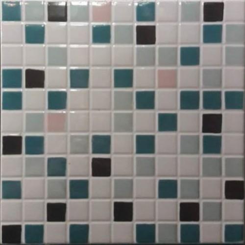 Νέα Παραλαβή!!! Πλακάκια κουζίνας και μπάνιου τυπου ψηφίδα πράσινη-μαύρη-λευκή 20x20