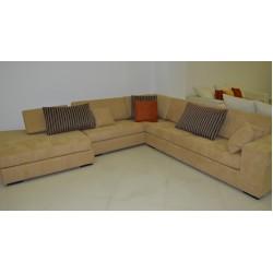 Γωνιακός καναπές beige 2