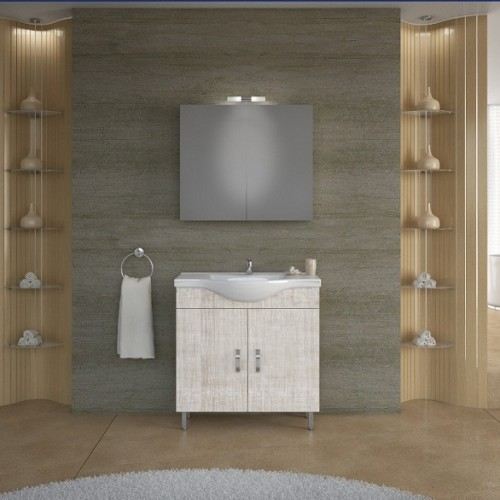Νέα Παραλαβή! Έπιπλα μπάνιου ALBA 80 BEIGE
