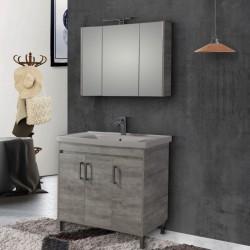 Έπιπλο μπάνιου Savina Grey 100 cm