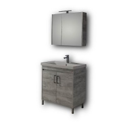 Έπιπλο μπάνιου Savina Grey 80 cm