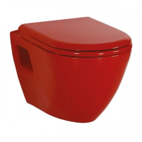 Λεκάνη Razor Creavit  κόκκινη κρεμαστή με κάλυμμα  (TP325)